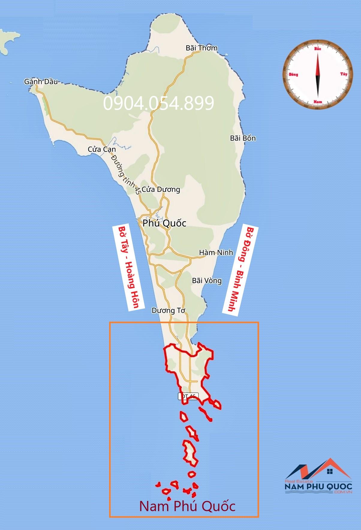 Bản đồ Nam Phú Quốc 0904054899