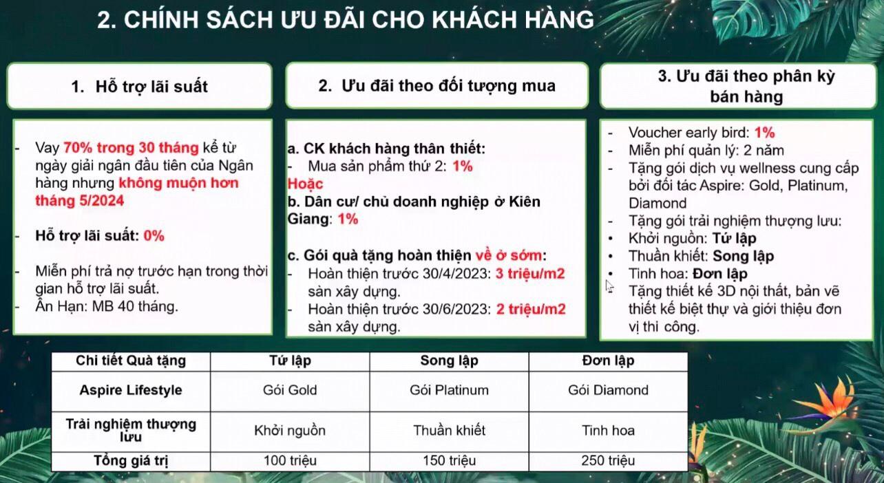 Chính sách bán hàng đặc biệt của Sun Tropical Village Nam Phú Quốc