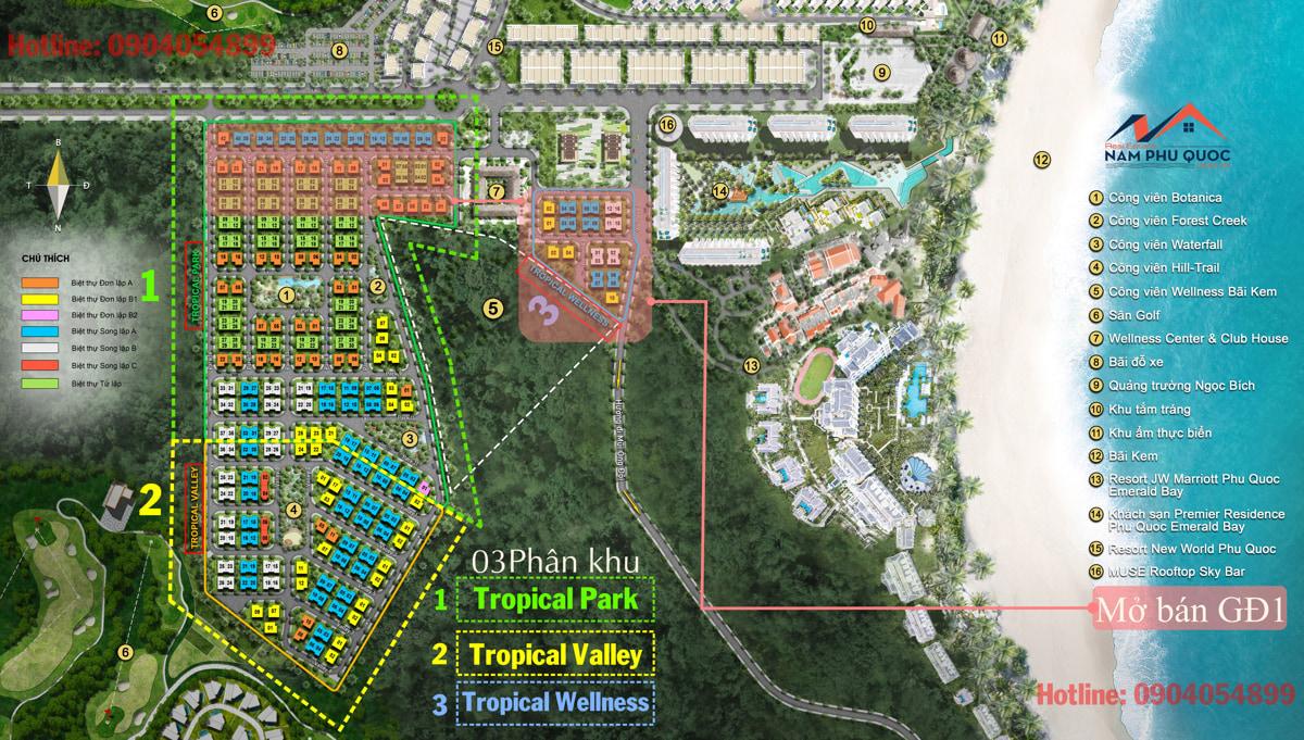 Mặt bằng dự án Sun Tropical village Namphuquoc.com.vn