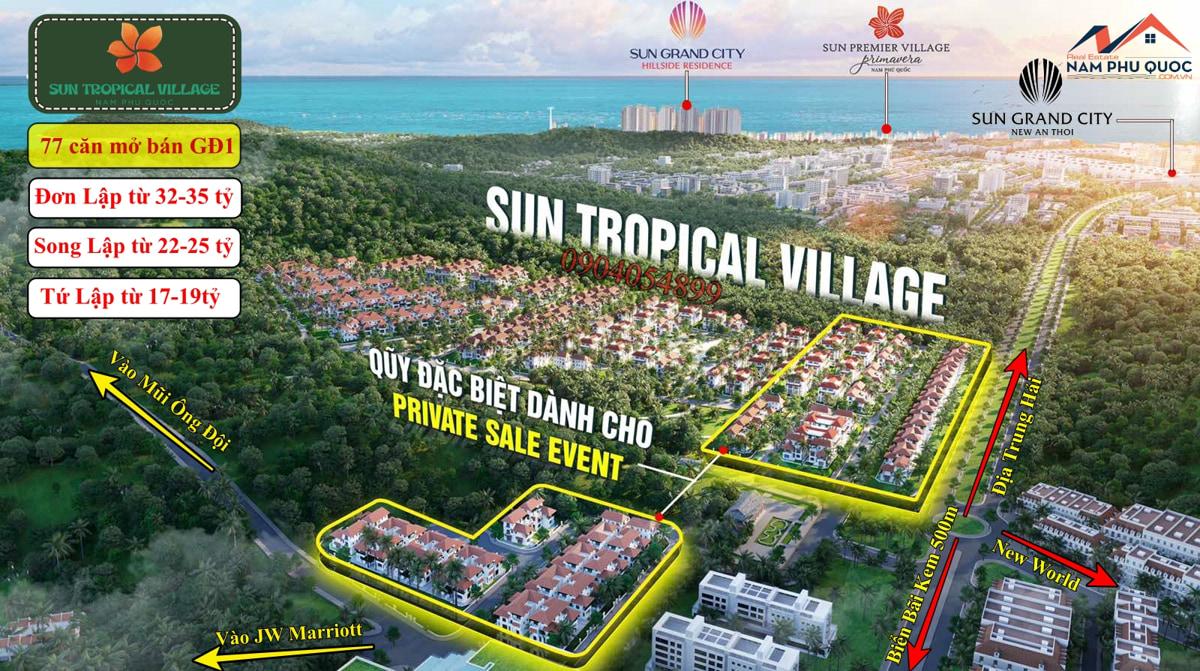 Quỹ căn mở bán giai đoạn 1 Sun Tropical Village