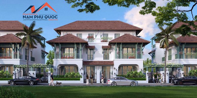 Mẫu biệt thự song lập xây dự án Wellness Second Home làng nhiệt đới Bãi Kem