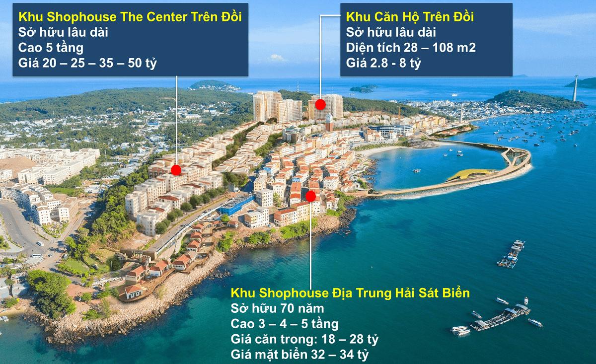 Mặt bằng thị trấn Địa Trung Hải Nam Phú Quốc
